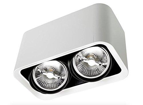 LEDs-C4 DM 1101-14-00 Plafonnier baco 2xg53 75w Blanc