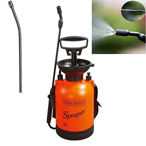Clicke Pulverizadores de Naranja 4L Manual de compresión pulverizador con Correa para el Hombro para Fertilizantes, herbicidas y pesticidas (Varios Barras de pulverización están Disponibles)
