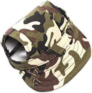 Gorra de béisbol ajustable para perros, con correa para el cuello, diseño...