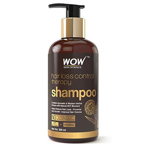 WOW Skin Science Hair Loss Control Therapy Shampoo - Increase Thick & Healthy Hair Growth - Contains Ayuvedic & Western Herbal Extracts with Natural DHT Blockers - For All Hair Types - 300 mL 1