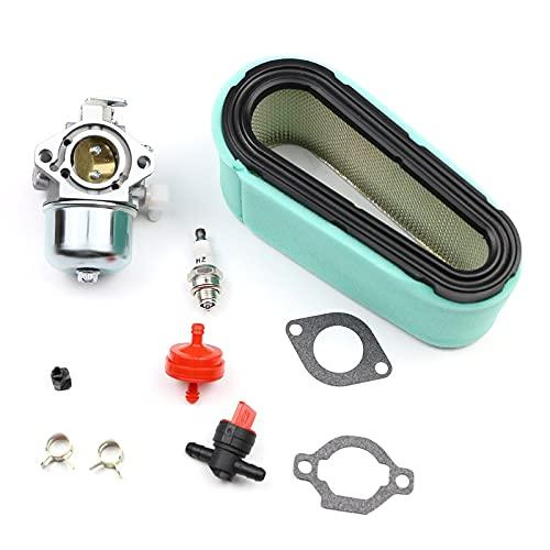 QUJJP Piezas para cortacésped Carburador con Kit de Juntas de bujías de bujías de Filtro de Aire para 699831 Motores de cortacésped de césped Tractor Carber Accesorios