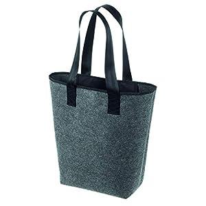 Filztasche Handtasche Shopper Einkaufstasche City-Tasche dunkelgrau & dunkelblau 44x26cm hochwertig verarbeitet (ohne…