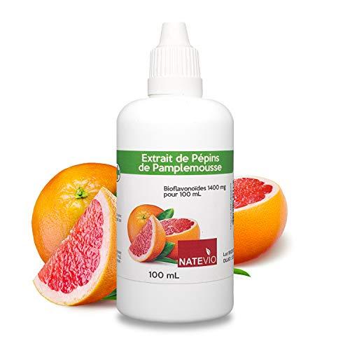 Extrait de pépins de pamplemousse EPP 1400mg • Natevio • SANS amertume • Flacon de 100ml • Vitalité • défense immunitaire • Antibiotique naturel