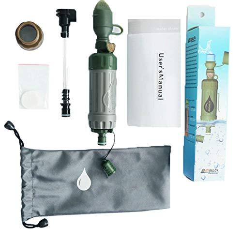 Draagbare Outdoor Water Filter Purifier voor Camping Wandelen Bergbeklimmen, High-Precision 0.01 Micron Ultrafiltratie Membrane, 99,9% Filter Schadelijke Bacteriën