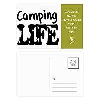 生命引用キャンプ 詩のポストカードセットサンクスカード郵送側20個