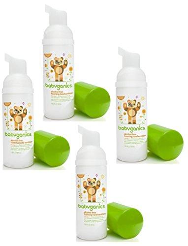 Babyganics Alcohol-free Foaming On-The-Go Hand Sanitizer Bundle - 4 Items: Mandarin 50 ml Bottles