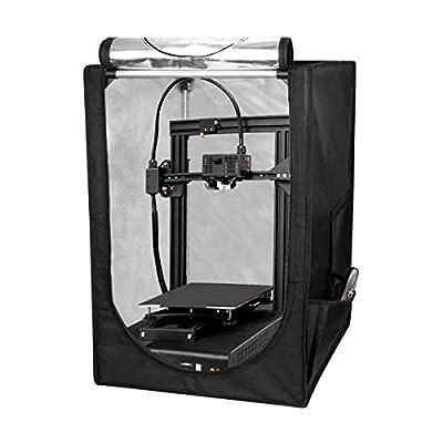 "3D Printer Tent, Fireproof and Dustproof Printer Enclosure Protective Cover, Constant Temperature Protective Cover Room for Ender 3/Ender 3 Pro/Ender 5 (18.9""x23.6""x 28.4"")"