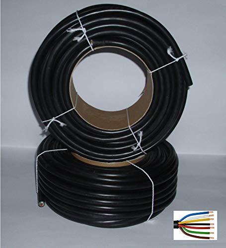 Kfz-Kabel 7-adrig 7 x 1,5mm² 25m (€ 3.-/m) Rundkabel Elektrokabel Fahrzeugleitung Anhängerkabel