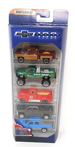 Matchbox 100 Years Anniversary Chevrolet Trucks 5-Pack