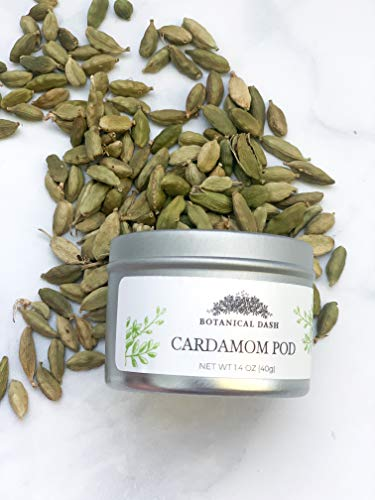 Cardamom Pods / Botanical Dash | FRESH AND 100% NATURAL | VEGAN | GLUTEN-FREE - SEALED TIN CAN AND PACKED IN THE U.S. (1.4oz)