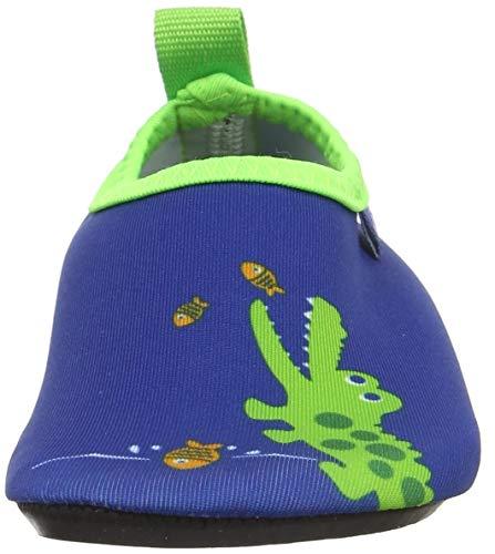 Playshoes Unisex-Kinder Badeslipper, Krokodil, Blau - 2