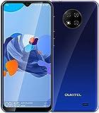 OUKITEL C19スマートフォン本体 4Gスマホ本体 simフリースマートフォン本体 6.49 HDインチ 13MP+2MP+2MP 4000mAh RAM 2GB + ROM16GB Android 10.0 端末 携帯電話 技適認証済み 1年間保証付き (ブルー, 2+16GB)