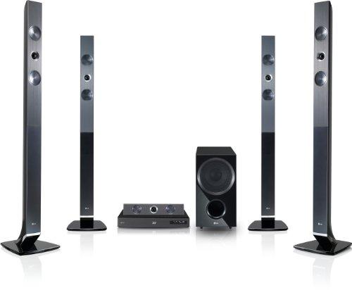 LG HX966TZ 3D 5.1 Blu-ray-Heimkinosystem (HDMI, Upscaler 1080p, DLNA, WLAN-Ready, Apple iPod-Anschluss, 180 Watt, USB 2.0) schwarz