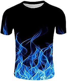 Wanxiaoyyyinnsdx Mens Henley Short Sleeve, Men's T Shirts Short Sleeve Casual Top Tees Slim Basic Streetwear Round Neck Su...