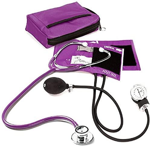NCD Medical/Prestige Medical Set mit Aneroid-Manometer und Doppelkopf-Stethoskop, Lila
