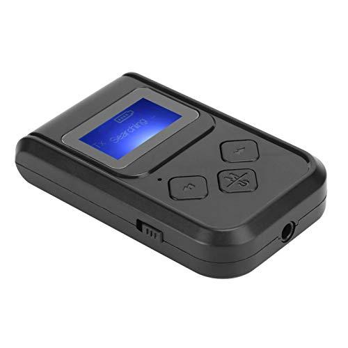 FOLOSAFENAR Pantalla Digital Transmisor Receptor Bluetooth Manos Libres Pantalla Digital Adaptador Bluetooth, para Radio de Coche, para teléfono móvil, Altavoz, para Amplificador de Potencia