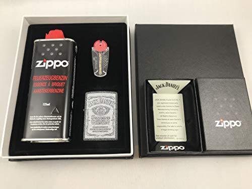 ZIPPO Jack Daniel's Iron Stone Feuerzeug Premium Geschenk Set - 60004488