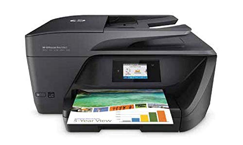 HP OfficeJet Pro 6960 - Impresora multifunción (tinta color, WiFi, fax, copiar, escanear, impresión a doble cara, 600 x 1200 ppp, incluido 3 meses de HP Instant Ink)