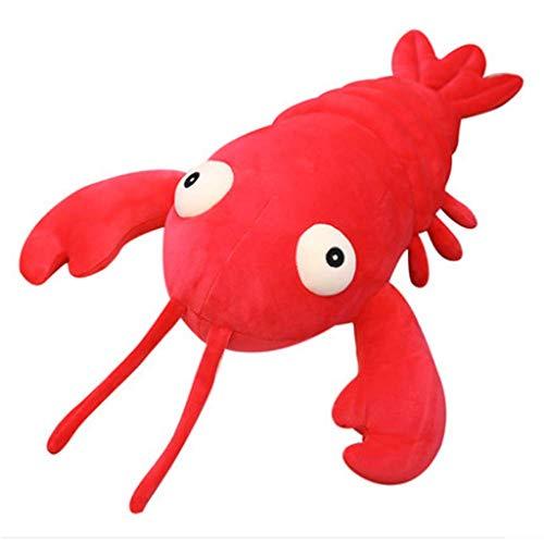 Bigbarry Cómodo 50cm de simulación cangrejos muñeca Almohada Océano gambas Regalo Chica Divertida del Amortiguador del Juguete de Peluche For niños y niñas Natural