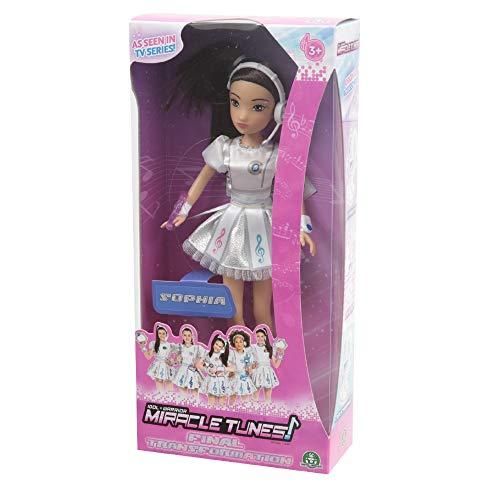Giochi Preziosi Miracle Tunes Fashion Doll Sophia, Vestizione White Transformation
