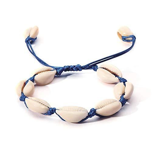 KUANGLANG Bohemia Vintage Hand-Knitted Shell Rope Chain Bracelet Charm Women Beach Sea Shell Bracelet Anklet Jewelry Party Gift