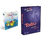Hasbro Gaming Trivial Pursuit (Versión Española) (E1921105) + Tabú Gaming Clasico Juego De Mesa, Multicolor, 26.7 X 20.1 X 5.1