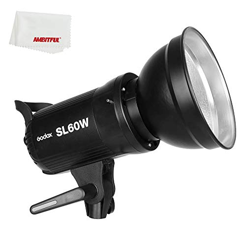 Godox SL-60W LED Video Light SL60W White CRI 95+,5600K Version 60WS Bowens Mount + Remote Controller + Reflector