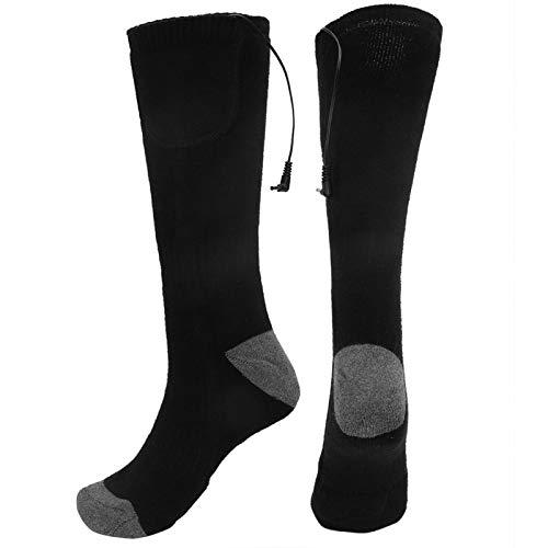 Medias calefactoras duraderas y lavables, calcetines calefactables para hombres y mujeres, calcetines calefactores eléctricos con ajuste de 3 engranajes para el cuidado de los pies