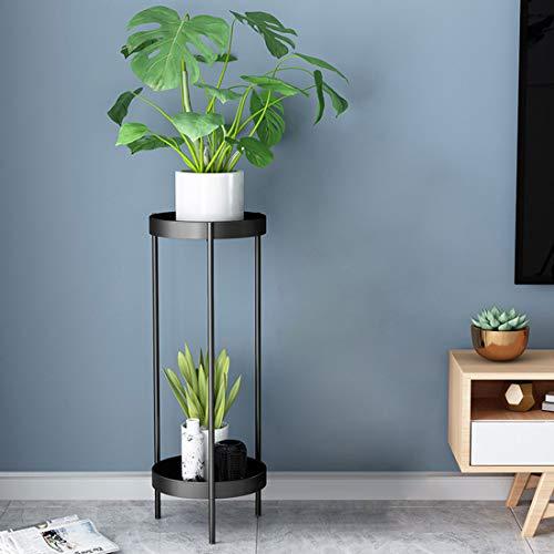 Teakpeak Blumenständer Hoch, 90cm Pflanzenständer Metall Hoch Blumentopfständer Metall Garten Blumenständer Schwarz