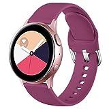 Wepro Correa Compatible con Samsung Galaxy Watch Active/Active2 40mm 44mm, Correa de Repuesto de Silicona Suave para Samsung Galaxy Watch 42mm/Watch 3 41mm/Gear Sport, Pequeño Vino Rojo