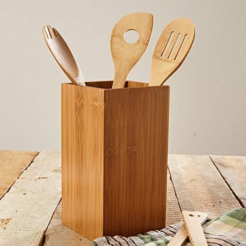 bambuswald© Utensilienhalter aus 100% Bambus - Blumenvase Weinflaschenhalter Küchenutensilienhalter