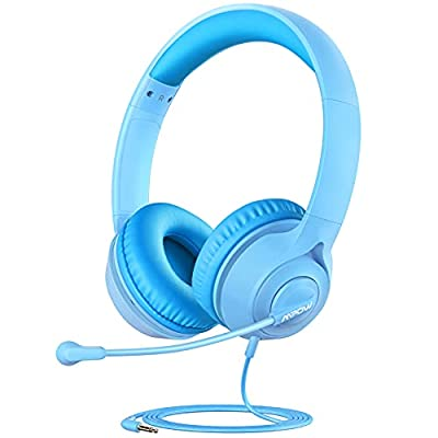 Mpow LH1 Kids Headphones with Microphone for Boys Girls, Kids Online Learning Headset with 94dB Volume Limit, Stereo Sound, 3.5mm Audio Jack for Smartphone, Tablet, Kindle, PC, School, Travel from Mpow
