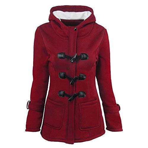 Mantel Damen Winter, Holeider Jacke Warme Wolle Elegant Outwear mit Kapuzen, Frauen Sweatjacke Parka Kapuzenpullover Tops Lässig Sexy