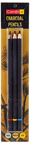 Camlin Kokuyo Medium/Soft/Hard Charcoal Pencils