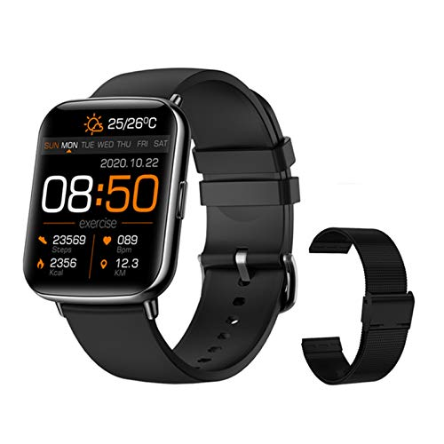 LAB Smart Watch IP68 Impermeable Smartwatch Clock Rate Fitness Tracker X27 2021 Reloj Deportivo para Hombres Y Mujeres Soporte DIY DIAL para iOS Android,M