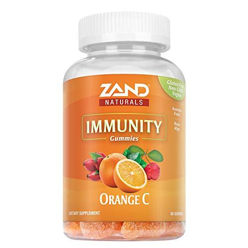 Zand Orange C Gummies   Immune Support for Adults & Kids with Vitamin C, Acerola & Rose Hips   60ct, 30 Serv.