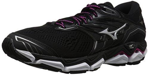Mizuno Women's Wave Horizon 2 Running Shoe, Black/Athena, 7 B US