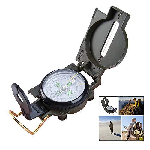 iPobie Militär Marschkompass Taschenkompass Peilkompass Kompass für Jagd Wandern und Aktivitäten im Freien