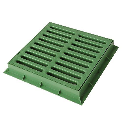 First Plast TGNP30V Telaio con Griglia Pedonabile in PVC, Verde, 300x300 mm
