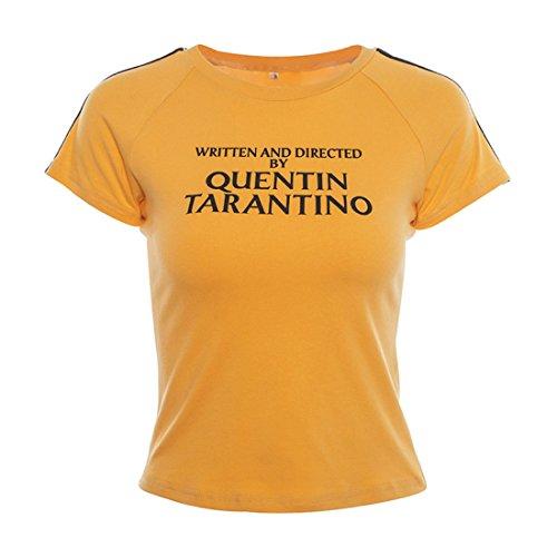 YEMOCILE Donna Scritto e Diretto da Quentin Tarantino Maglietta a Maniche Corte