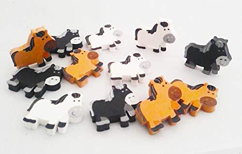 Partynelly 12x Pferde Radierer, 3, Radiergummi, Mitgebsel Pferdeparty