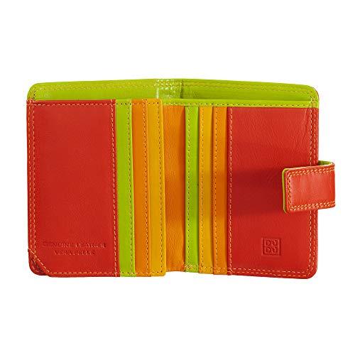 DUDU Portafoglio donna RFID piccolo di pelle colorata porta carte Rosso