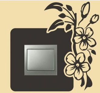 Ranke - Adhesivo para interruptor de luz resistente a los rayos UV, para coche, pared, portátil, azulejos, baño, aseo y todas las superficies lisas de lámina de alto rendimiento sin fondo