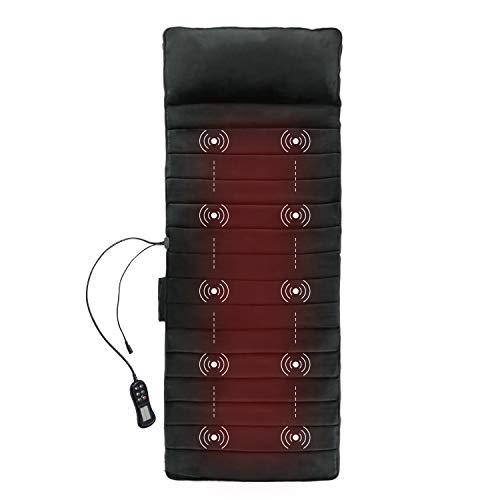 1byone Massage Mat - Full Body Memory Foam Massaging Mat of 10 Vibration Motor Massagers with 2...