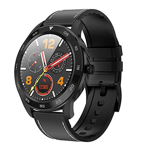 WWKDM 1 reloj inteligente IP68 impermeable inteligente Bluetooth llamada ECG presión arterial hombres 1.3 pulgadas pantalla táctil completa Fitness Tracker