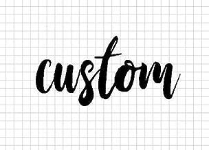 custom metal word art