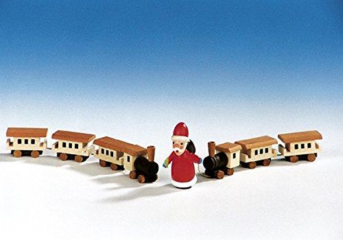 Rudolphs schatkist houten speelgoed houten trein, lengte 15 cm, speelgoed, trein, trein, zeep, houten speelgoed, ertsgebergte, trein, Wagon