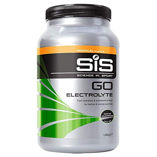 SiS Go Electrolyte, High carbohydrate energy drink powder, with added Electrolytes for Hydration, (Tropical Flavour) 40 Servings