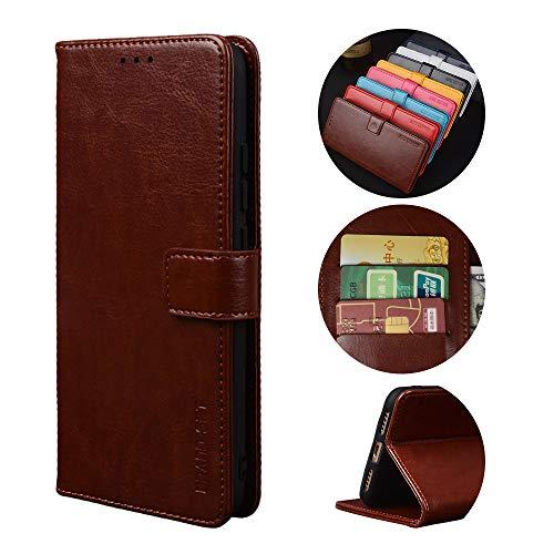 Handyhülle für Asus Zenfone 7 Pro ZS671KS Hülle mit Kartenfach Magnetisch Premium Leder Flip Schutzhülle Tasche Hülle Brieftasche Etui lederhülle Kompatibel mit Asus Zenfone 7 Pro ZS671KS -Braun