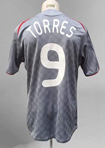 ADI Fernando Torres#9 Retro Jersey Camiseta DE FÚTBOL Grey Color (M)